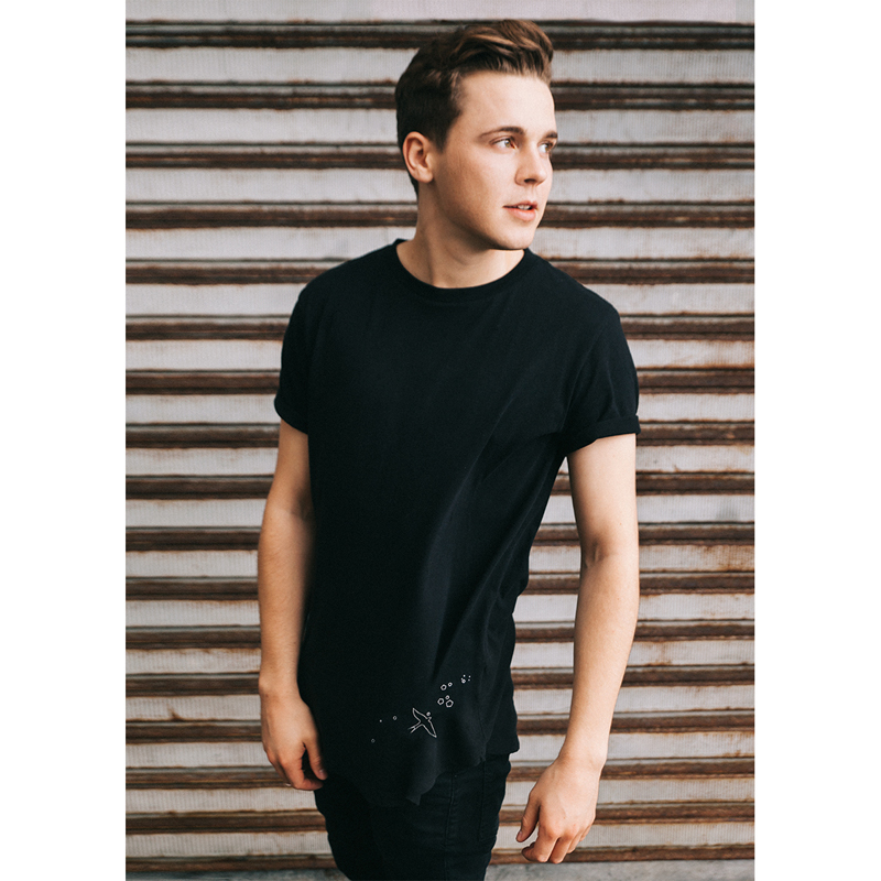 Felix Jaehn COLLAECTION TEE LOGO ART T-Shirt men, black